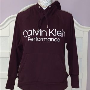 Calvin Klein Performance hoodie XS Burgundy color